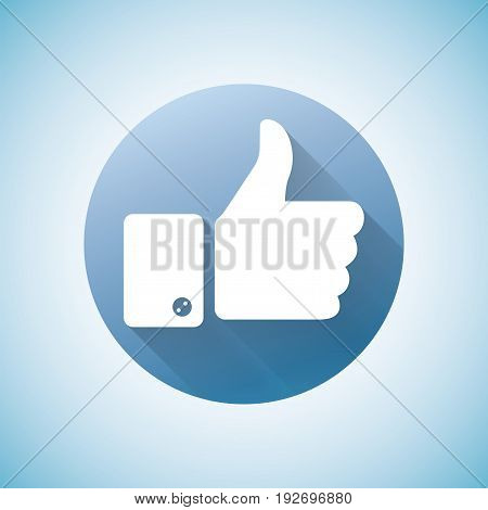Sign Design Object Icon with image of human hand and positive gesture isolated vector illustration