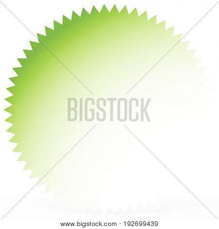 Bright Badge, Starburst Shape With Only 1 Color