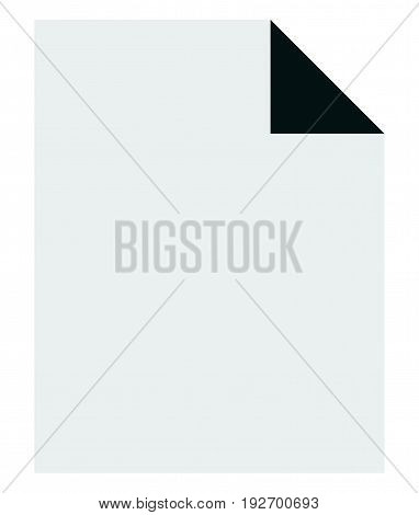 Simple Notepaper, Paper Sheet Icon. Stationery, Office, Archive Or Related Concepts.
