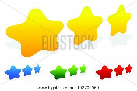 Star, Star Rating To Use As Illustrate Quality, Rating, Reward, Service Level Concepts