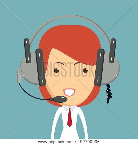 Dispatcher consultant icon. vector icon for web