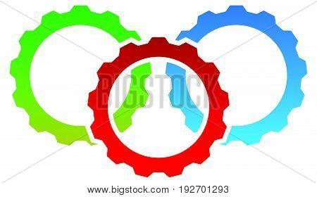 Gear Icon, Gear Symbol For Maintenance, Repair Or Development Concept