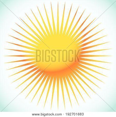 Abstract Starburst, Sunburst Design Element. Illustration With Sun-like Shape. Radial, Radiating Lin