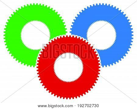 Gear Icon, Gear Symbol For Maintenance, Repair Or Development Concept