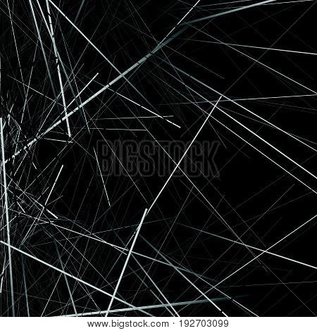 Random Chaotic Lines Texture. Abstract Geometric Illustration
