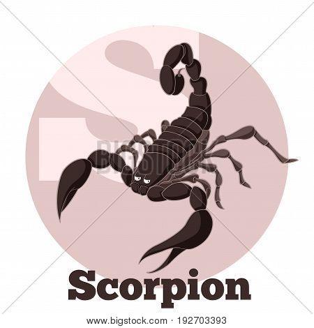 Vector image of the ABC Cartoon Scorpion