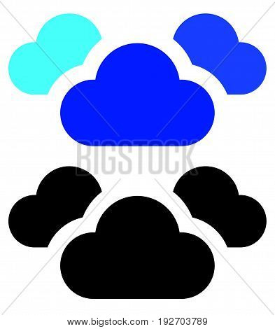 Cloud Symbol. Simple Cloud Silhouette Icon / Symbol