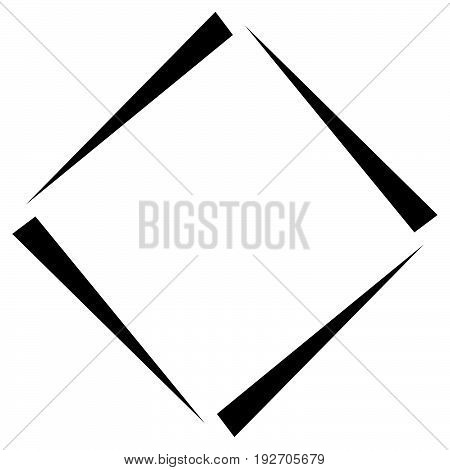 Square Geometric Element Abstract Square Symbol. Square Logo
