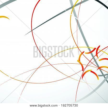 Abstract Geometric Illustration With Random Dynamic Lines. Abstract Digital Art.