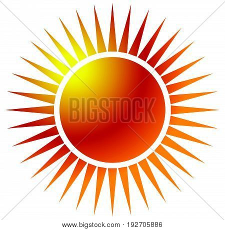 Sun Clip-art With Warm Orange Gradient. Sun Icon, Sun Symbol On White