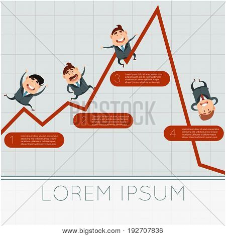 Vector image of the Business concept about crisis