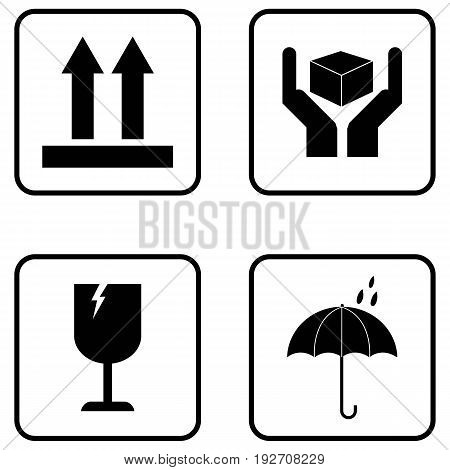 Delivery Icon fragile fragility arrow symbol equipment