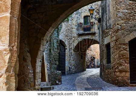 The Medieval Village Of Pals. Girona, Spain.