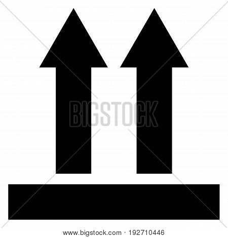 This side up symbol package vector label fragile packaging shipping