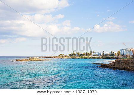 Fig Tree Bay in Protaras in Cyprus, Mediterranean sea.