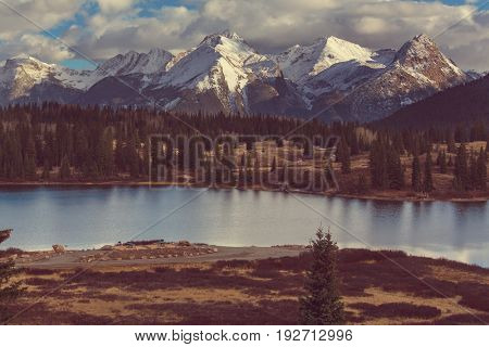 Mountain Landscape in Colorado Rocky Mountains, Colorado, United States.