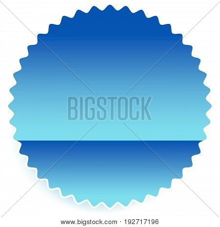 Starburst Shaped Badge, Button Shape With Copyspace. Abstract Badge, Button Or Tag, Label Element