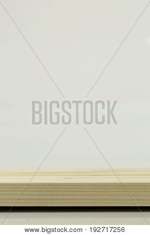 blank horizontal background empty space with wooden for support some product in screen background.