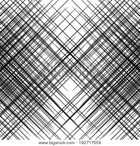 Grid, Mesh Of Slanting, Oblique, Diagonal Lines. Geometric Pattern / Texture With Lines, Stripes