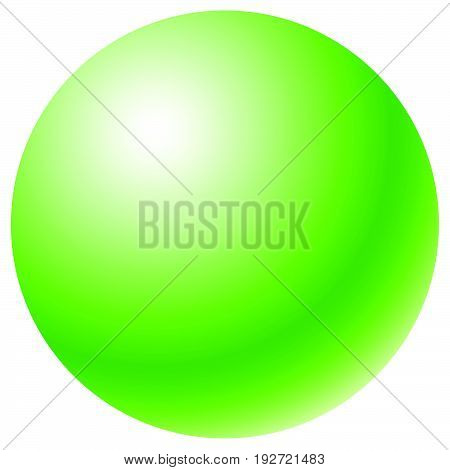Circle With Radial Gradient Fill. Glossy One-color Sphere / Circle Shape