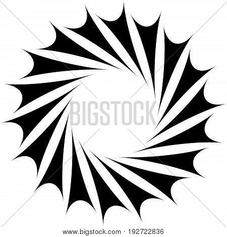 Abstract Concentric Mandala, Motif Design Element. Circular Geometric Shape. Radial Rotating Abstrac