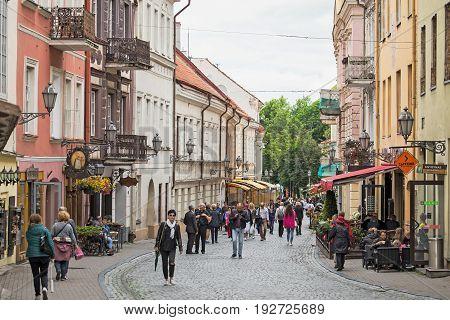 Pilies Street In Vilnius