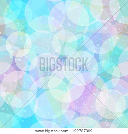 Seamless Abstract Tile Background, Colorful Geometrical Figures, Circles and Rings. Eps10, Contains Transparencies. Vector