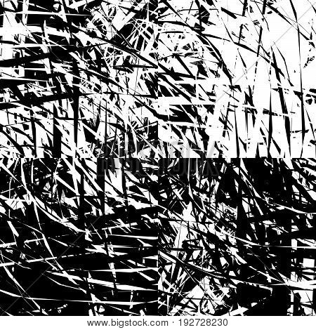 Rough, Grungy Abstract Pattern Or Texture With Random Composition Of Elements
