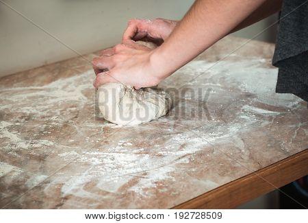 Woman close up baking at the home