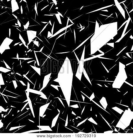 Harsh Rough Texture. Geometric Abstract Illustration With Disarray Of Random Shapes. Cracked, Destro