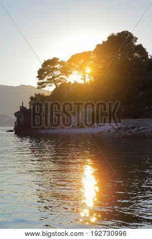 The Bay of Kotor near Herceg Novi at sundown, Montenegro