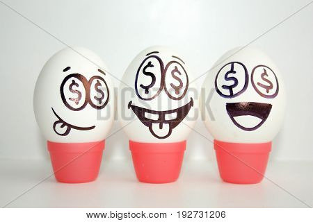 Concept Of Business Ideas. Success. Eggs