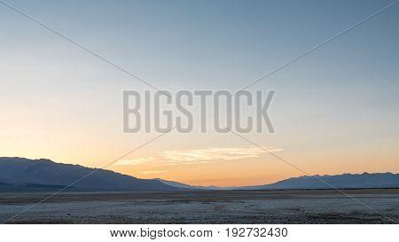 Sunset At Badwater Basin