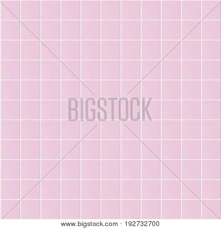 Light pink seamless pattern tile wall texture background for interior home, bathroom design or 3d rendering decoration