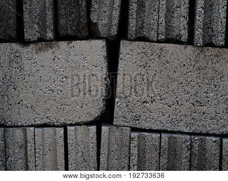 Concrete block wall background close up micro