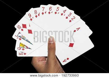 cards game hand diamonds full hand  poker game play