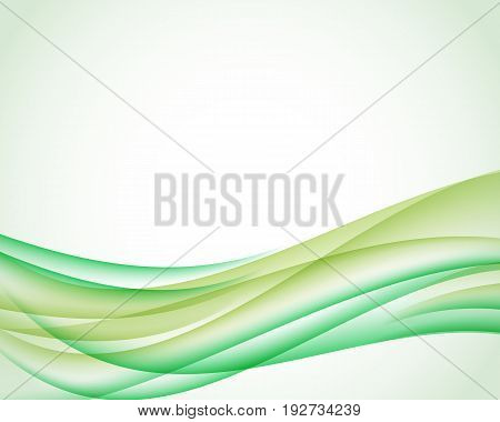 Abstract Background With Olive And Green Vertical Smoth Wave. Vector Illustration For Your Web Desig