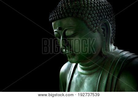 Zen Style Buddha With Light Of Wisdom Black And White, Peaceful Asian Buddha Tao Religion Art Style