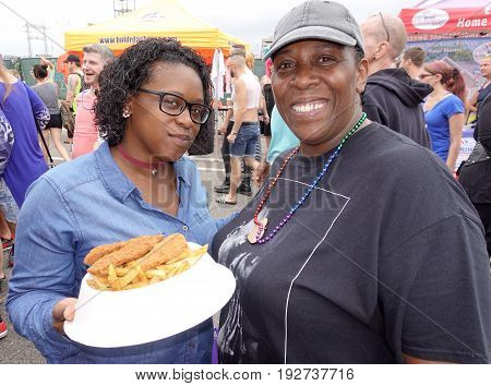 PROVIDENCE, RHODE ISLAND- JUNE 17, 2017: The Gay Pride Fest was held on the waterfront in Providence, Rhode Island on June 17, 2017