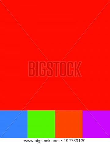 Empty Colorful Radial Gradient Backdrops. Background Set With Copyspace