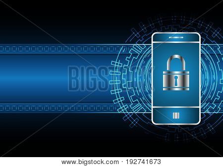 Technology Digital Future Abstract Cyber Security Mobile Phone Lock
