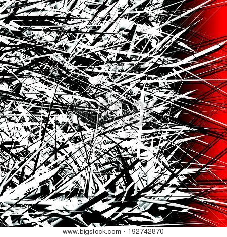Abstract Digital Art With Array Of Random Lines. Use As Poster, Flyer Background Or Design Element F
