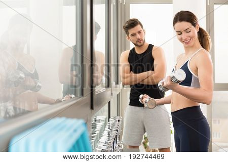 Woman With Personal Trainer