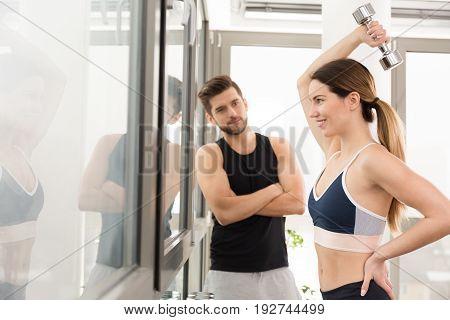 Slim Girl On A Gym