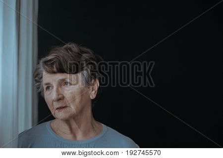 Senior Lady In The Room