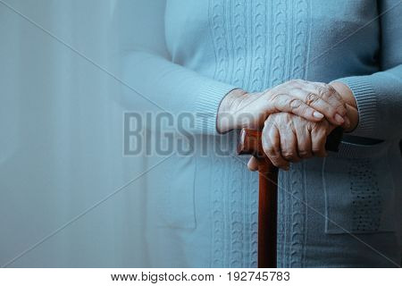 Lady With Walking Stick