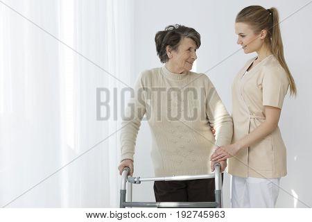 Elder With Her Nurse