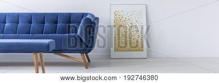 Sofa And Poster In Living Room