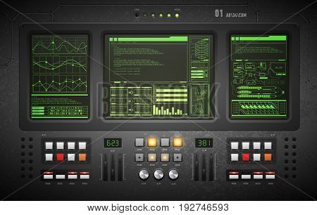 user interface. Creative template in the style of science fiction.