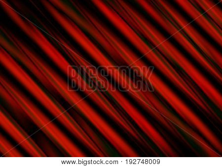 Abstract background of wavy stripes red shades collected at an angle